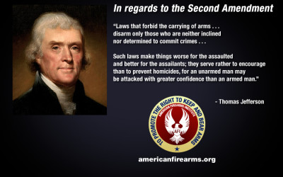 Thomas Jefferson in regards to the Second Amendment