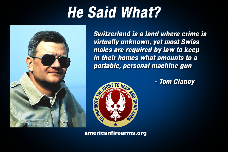 Gun Security Cabinet >> Tom Clancy - American Firearms Institute