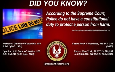 Police do not have a constitutional duty to protect