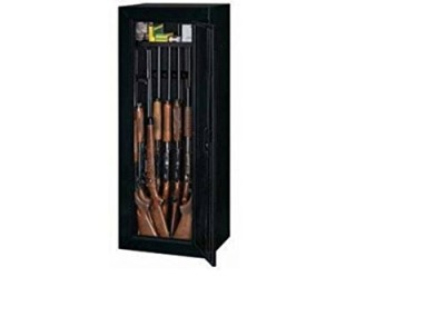 14-gun Rifle Cabinet Lock Storage Matte Black with Bonus Door Storage Case Organizer