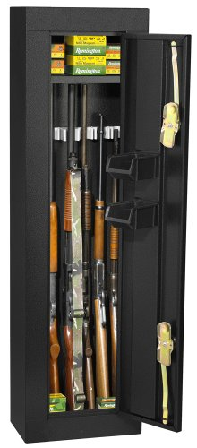 HOMAK 6-Gun Security Cabinet, Gloss Black HS30103605