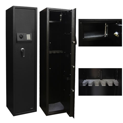 XtremepowerUS Security Plus 5 Rifle Gun keyless Electronic PIN keypad Storage Cabinet Safe Box