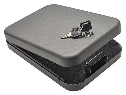 SnapSafe Lockbox with Key Lock for Handgun Storage of Full Size Pistols