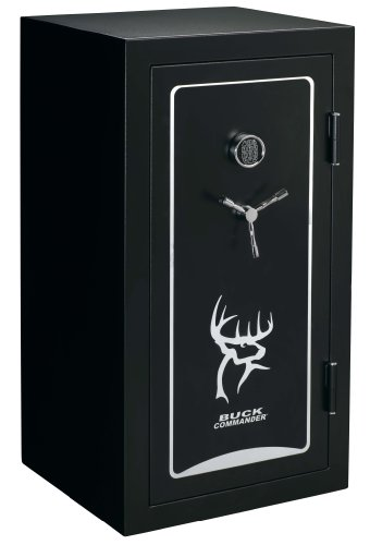 Stack-On BC-40-MB-E-S 40 Gun Buck Commander Safe, Fire Resistant, Electronic Lock, Realtree Extra Door Organizer