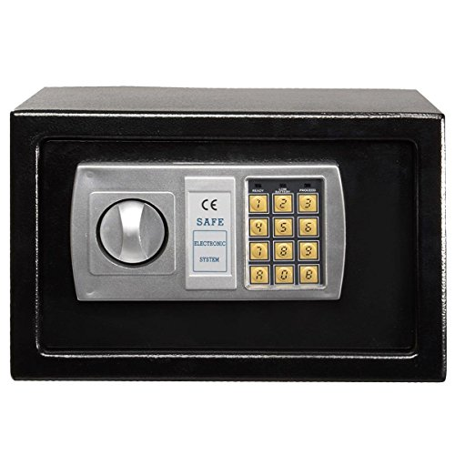 winixson 12 5 electronic digital lock keypad safe box cash jewelry gun safe black new. Black Bedroom Furniture Sets. Home Design Ideas