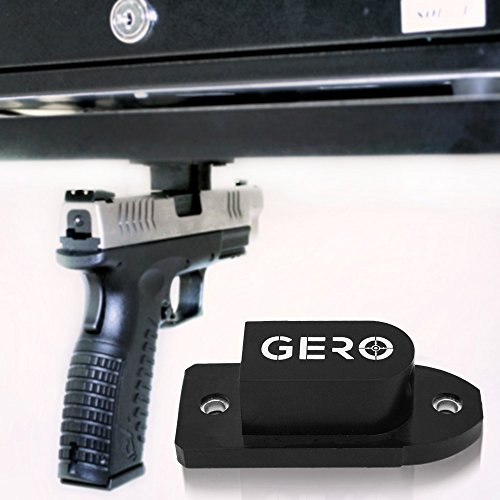 Tactical Quick Draw Gun Magnet Concealed Pistol Holder Handgun Fast Draw Perfect Car Gun Holster Under Counter Desk Shelf Car Gun Safe or Bed Side Holds All Guns Beretta Remington Springfield Armory