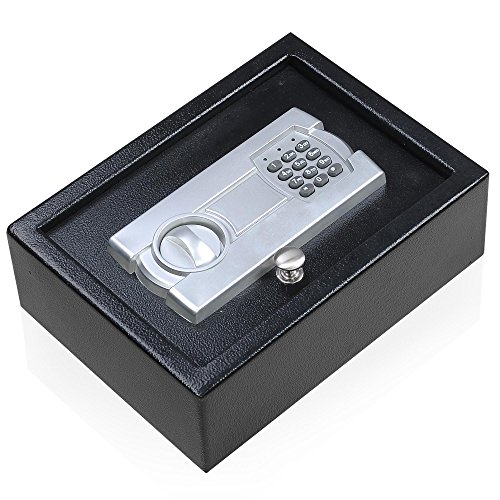 Portable Keypad Safe Hand Gun Pistol Drawer Keyless Digital Electronic Lock Car RV Cash Box 12X9
