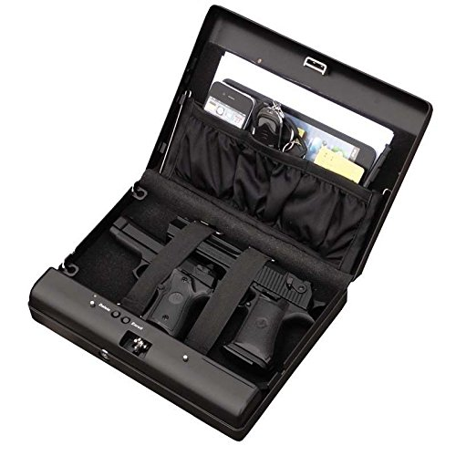 Sourcingbay Fingerprint Pistol Safe Box Gun Vault Jewelry Safe Box Car Home Biometric Keyless