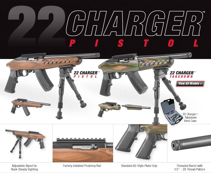 2nd generation Ruger Charger circa 2015 note wooden furniture not offered any more