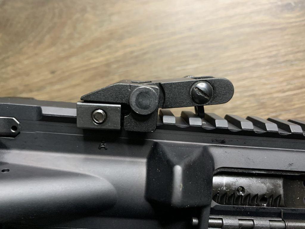 Back-up Iron Sights - Tacticon - Rear Sight Not Totally Flat Atl