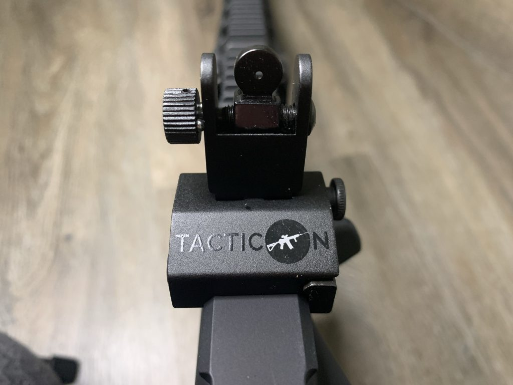 Back-up Iron Sights - Tacticon - Tight Peep - Mounted