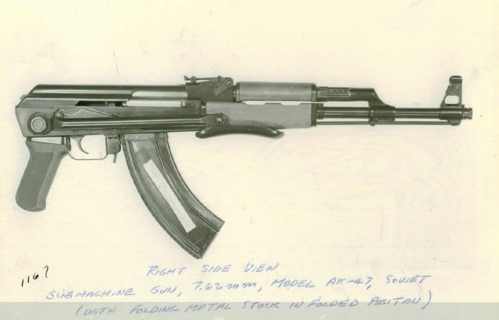 A captured example of the AK-47 from 1961
