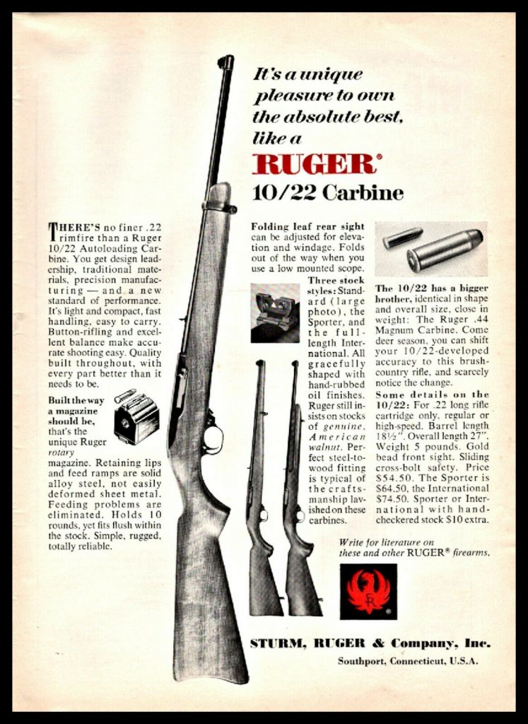 Ruger 10/22 ad from 1967